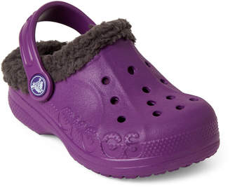 Crocs Toddler/Kids Girls) Amethyst & Graphite Baya Lined Clogs