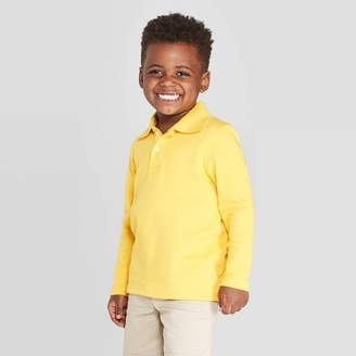Cat & Jack Toddler Boys' Long Sleeve Interlock Uniform Polo Shirt - Cat & JackTM