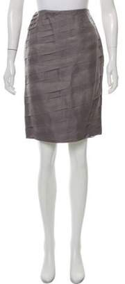 Christian Siriano Tiered Silk Knee-Length Skirt w/ Tags Tiered Silk Knee-Length Skirt w/ Tags