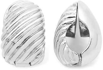 JCPenney MONET JEWELRY Monet Silver-Tone Swirled Clip-On Earrings