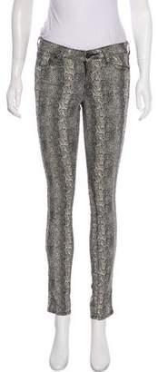 Paige Printed Mid-Rise Pants