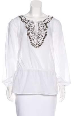MICHAEL Michael Kors Embellished Long Sleeve Top