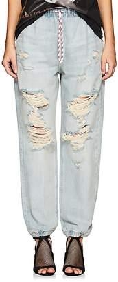 Denim x Alexander Wang Women's Distressed Denim Jogger Pants