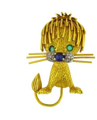 Marvin 18K Yellow Gold Hime Lion Pin