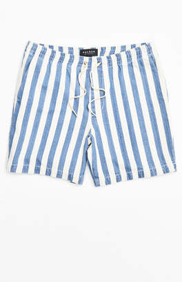 PacSun Indigo Stripe Volley Shorts