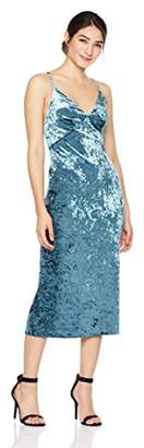 Cambridge Silversmiths The Collection Women's V-Neckline Velvet Midi Dress