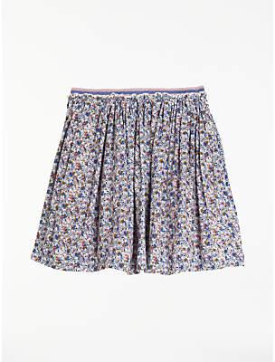 John Lewis Girls' Ditsy Floral Pleated Skirt, Multi