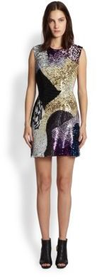 3.1 Phillip Lim Beaded Patchwork Sheath Dress