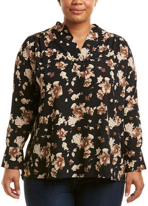 MARYBELLE Marybelle Plus Floral Top