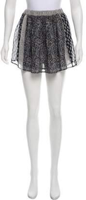 Ulla Johnson Silk Printed Skirt w/ Tags