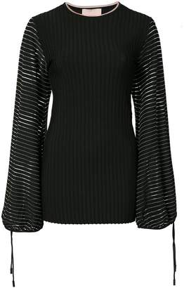 Roksanda devoré stripe blouse