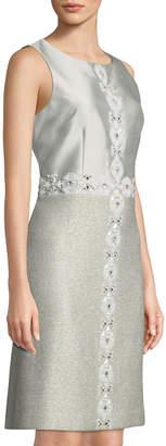 St. John Jasmine Hand-Beaded A-Line Dress