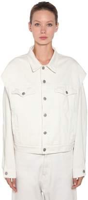 MM6 MAISON MARGIELA Open Sleeve Cotton Denim Jacket