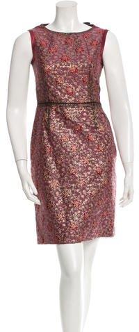 pradaPrada Brocade Sheath Dress