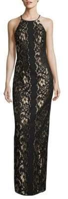 Wenda Lace Column Gown