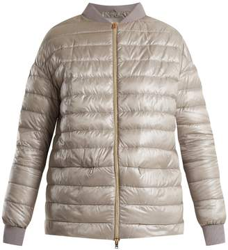 Herno High-neck quilted down bomber jacket