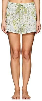 Castle & Hammock Women's Floral Cotton Voile Drawstring Shorts