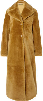 Ellery Cortille Shearling Coat - Tan