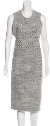 MM6 MAISON MARGIELA Wool Sleeveless Midi Dress