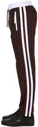 Diesel Black Gold Striped Cotton Blend Track Pants
