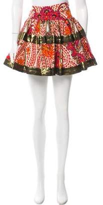 Thakoon Paisley Mini Skirt