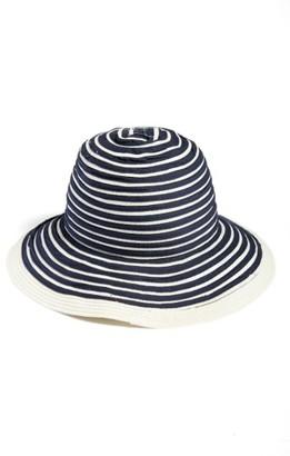 Women's Barbour Stripe Sun Hat - Blue $49 thestylecure.com