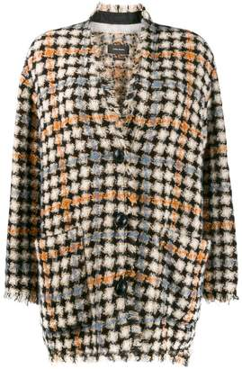 Isabel Marant oversized check print knitted coat