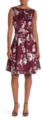 Sandra Darren Floral Pleated Sleeveless Dress