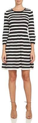 Women's Cece Bow Sleeve Stripe Dress $119 thestylecure.com