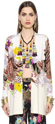 Etro Floral Printed Stretch Silk Jacket