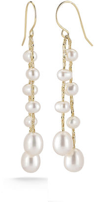 FINE JEWELRY Cultured Freshwater Pearl 14K Yellow Gold Over Sterling Silver Drop Earrings $99.98 thestylecure.com