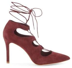 Loeffler Randall Delfine Bordeaux Lace-Up Heels