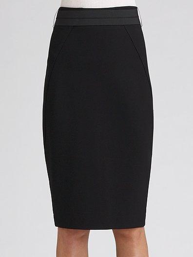 Donna Karan Belted High-Waist Pencil Skirt