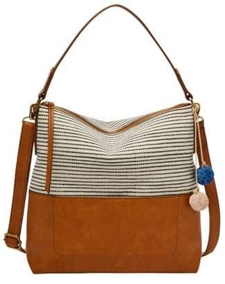 bcd2944774 Fossil Amelia Hobo Handbags Black Stripe