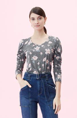 Rebecca Taylor Daniella Floral Jersey Top