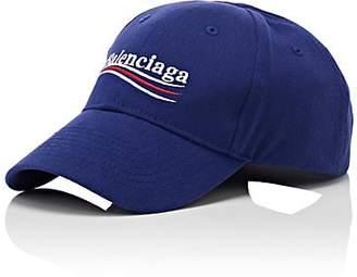 951ef2f3ef4 Balenciaga Men s Logo Cotton Twill Baseball Cap - Blue