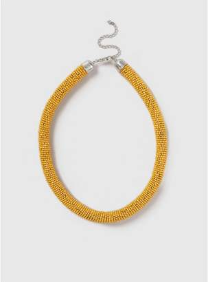 Evans Mustard Bead Necklace