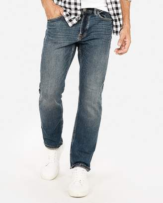 Express Classic Straight Medium Wash Stretch Jeans
