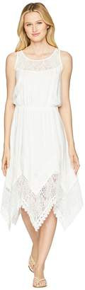 Wrangler Sleeveless Dress with Lace Front Shoulder Women's Dress