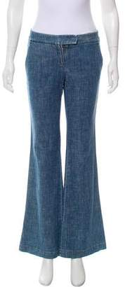 Theory Mid-Rise Flared Jeans