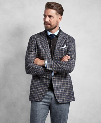 Brooks Brothers Golden Fleece Brown Multi-Check Sport Coat