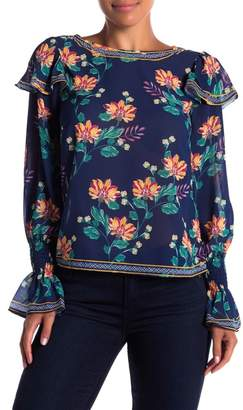 Flying Tomato Floral Long Sleeve Blouse