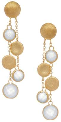 Rivka Friedman Satin Cascading Disc Faceted Caribbean Blue Quartzite Earrings