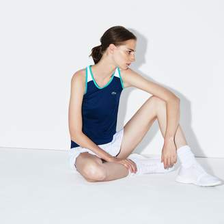 Lacoste Women's SPORT Stretch Jersey Racerback Tennis Tank Top