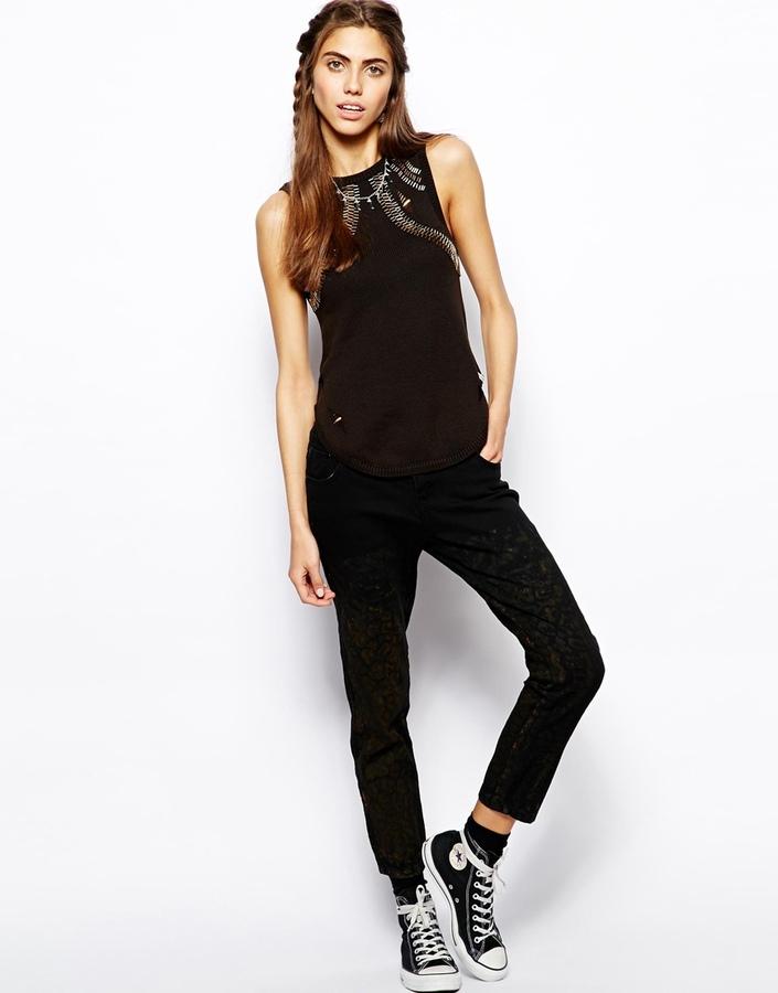 One Teaspoon Desert Cat Iggys Jeans - Black