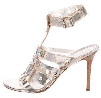 Alexander McQueen Metallic Leather Sandals