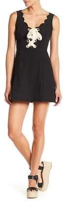Lush Sleeveless Lace-Up Dress
