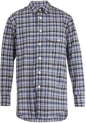 Wooyoungmi Oversized checked wool-blend shirt