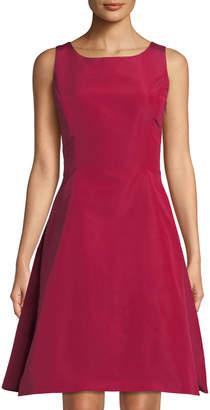 Oscar de la Renta Silk Faille Fit-and-Flare Dress