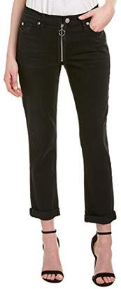 Hudson Women's Riley Crop Relaxed Straight Jean with Exposed Zipper